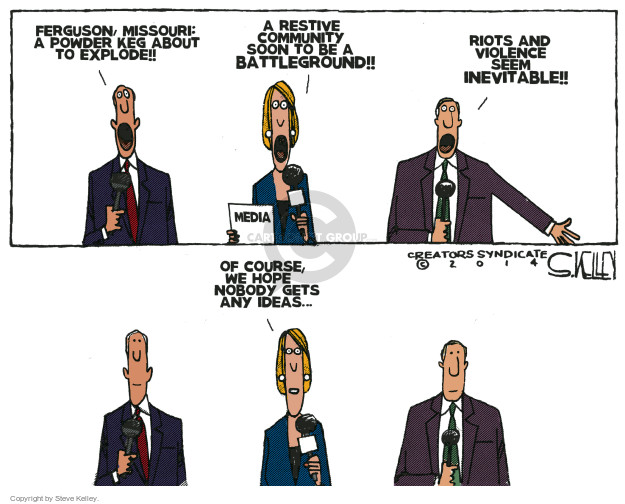 Steve Kelley  Steve Kelley's Editorial Cartoons 2014-11-19 protester
