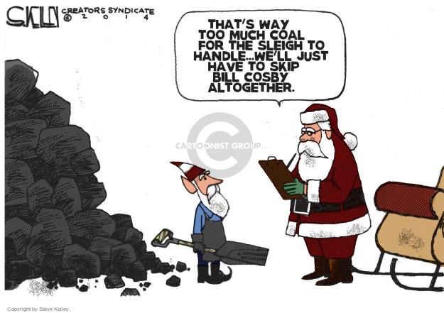 Cartoonist Steve Kelley  Steve Kelley's Editorial Cartoons 2014-11-28 claus