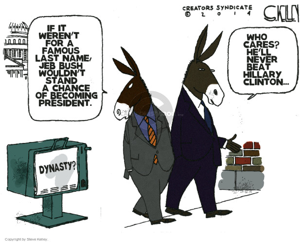 Cartoonist Steve Kelley  Steve Kelley's Editorial Cartoons 2014-12-17 election