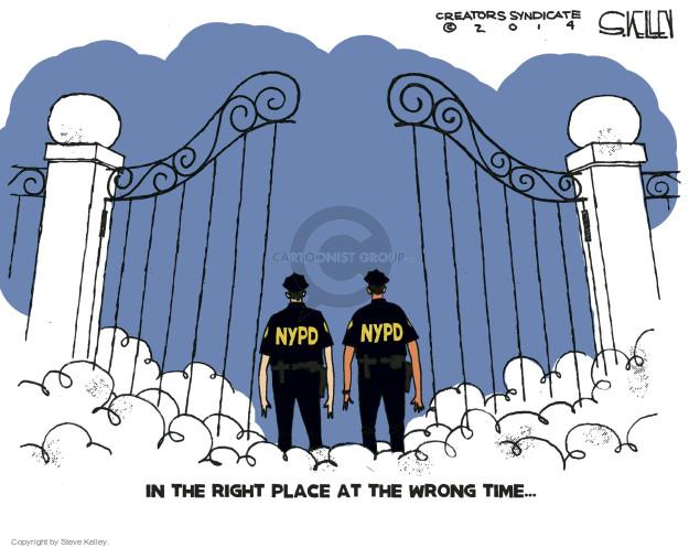 Steve Kelley  Steve Kelley's Editorial Cartoons 2014-12-23 police