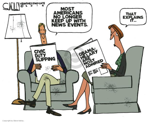 Steve Kelley  Steve Kelley's Editorial Cartoons 2014-12-30 presidential approval