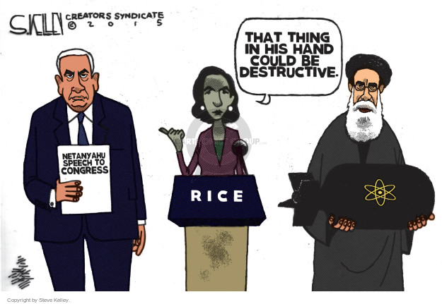 Steve Kelley  Steve Kelley's Editorial Cartoons 2015-02-26 United States and Israel