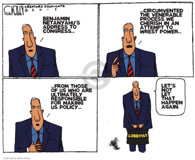 Steve Kelley  Steve Kelley's Editorial Cartoons 2015-03-05 United States and Israel