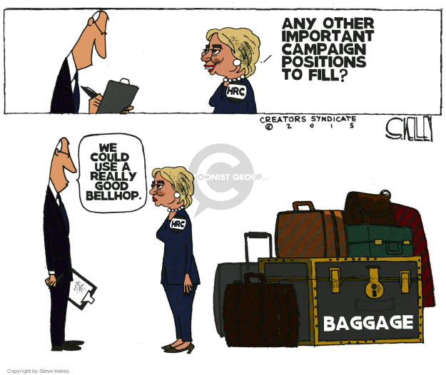Cartoonist Steve Kelley  Steve Kelley's Editorial Cartoons 2015-04-14 election