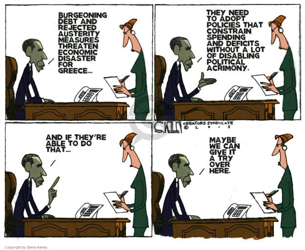 Steve Kelley  Steve Kelley's Editorial Cartoons 2015-04-21 Obama economy
