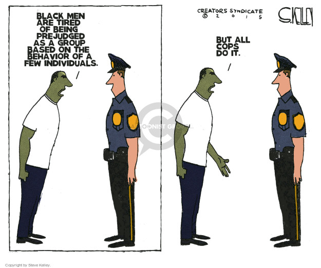 Steve Kelley  Steve Kelley's Editorial Cartoons 2015-04-30 police