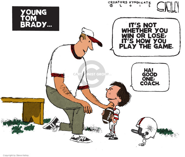 Cartoonist Steve Kelley  Steve Kelley's Editorial Cartoons 2015-05-07 football game