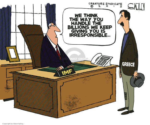 Cartoonist Steve Kelley  Steve Kelley's Editorial Cartoons 2015-06-29 international crisis