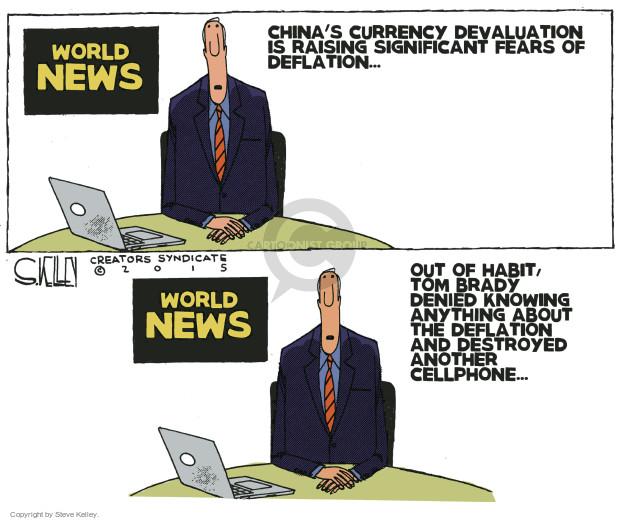 Steve Kelley  Steve Kelley's Editorial Cartoons 2015-08-13 China