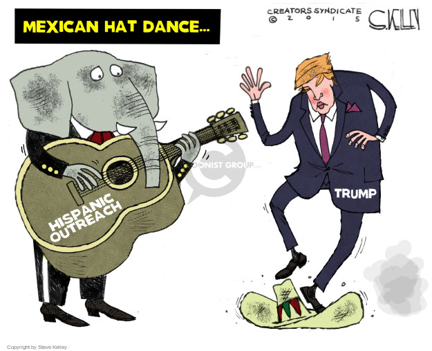 Mexican Hat Dance.  Hispanic Outreach.  Trump.