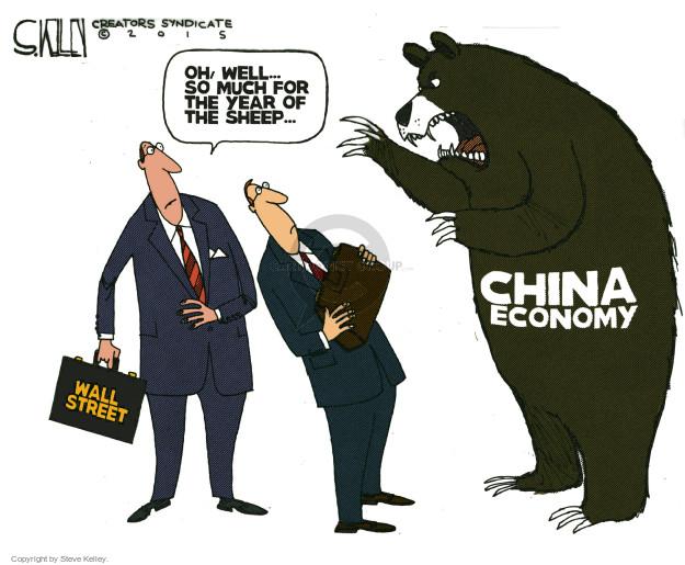 Steve Kelley  Steve Kelley's Editorial Cartoons 2015-08-25 China