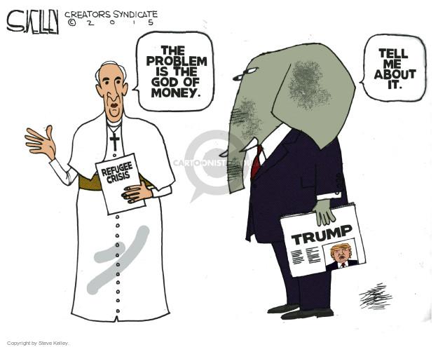 Steve Kelley  Steve Kelley's Editorial Cartoons 2015-09-15 refuge