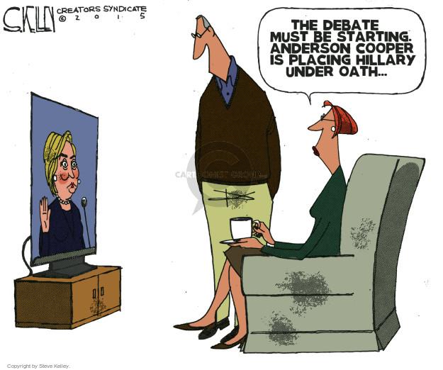 Steve Kelley  Steve Kelley's Editorial Cartoons 2015-10-13 2016 election debate