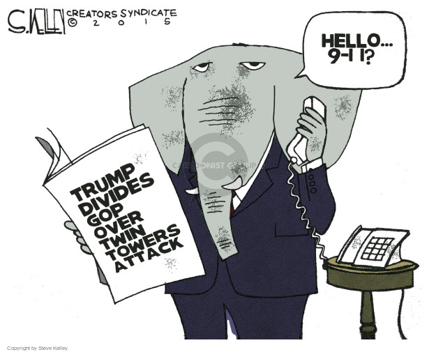 Hello … 9-11? Trump divides GOP over Twin Towers attack.