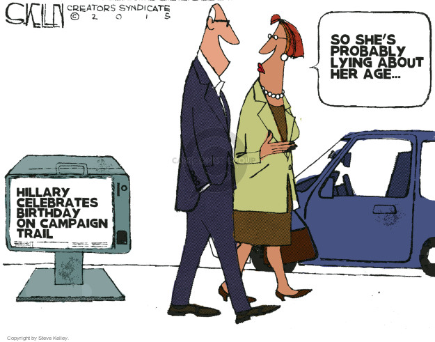 Cartoonist Steve Kelley  Steve Kelley's Editorial Cartoons 2015-10-27 election