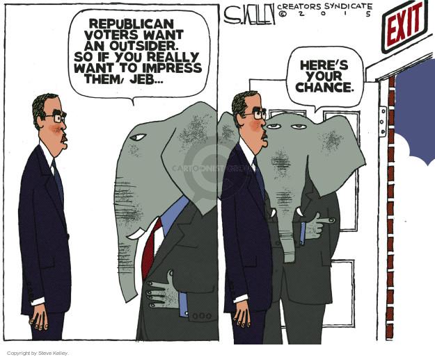 Cartoonist Steve Kelley  Steve Kelley's Editorial Cartoons 2015-11-12 election