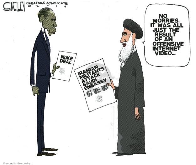 Steve Kelley  Steve Kelley's Editorial Cartoons 2016-01-05 Hassan Rouhani