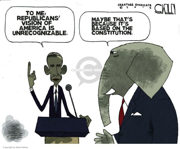 Steve Kelley  Steve Kelley's Editorial Cartoons 2016-01-26 Barack Obama