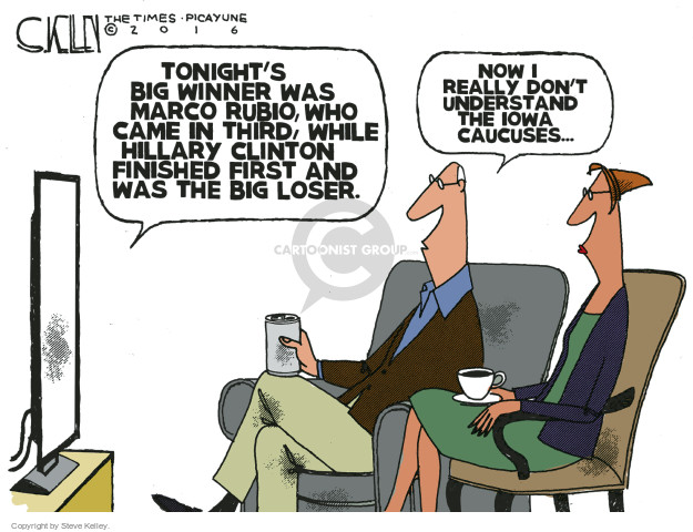 Steve Kelley  Steve Kelley's Editorial Cartoons 2016-02-02 commentary