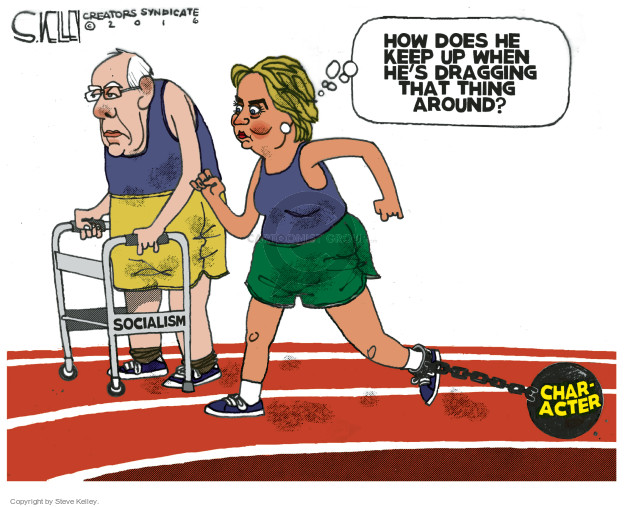 Steve Kelley  Steve Kelley's Editorial Cartoons 2016-02-04 Bernie Sanders