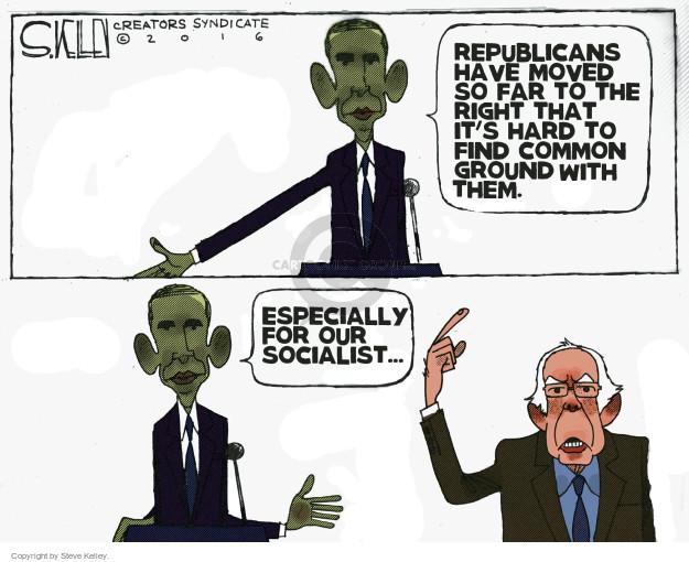 Steve Kelley  Steve Kelley's Editorial Cartoons 2016-02-19 Bernie Sanders