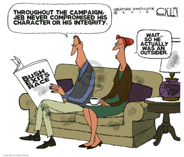 Steve Kelley  Steve Kelley's Editorial Cartoons 2016-02-23 Jeb Bush