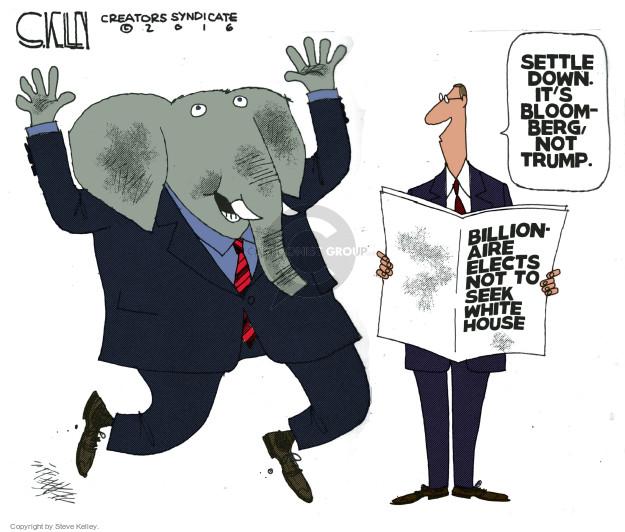 Steve Kelley  Steve Kelley's Editorial Cartoons 2016-03-08 Michael
