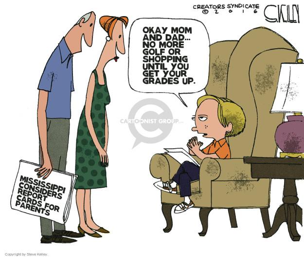 Steve Kelley  Steve Kelley's Editorial Cartoons 2016-03-14 parental