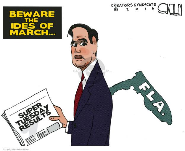 Steve Kelley  Steve Kelley's Editorial Cartoons 2016-03-17 2016 election Marco Rubio