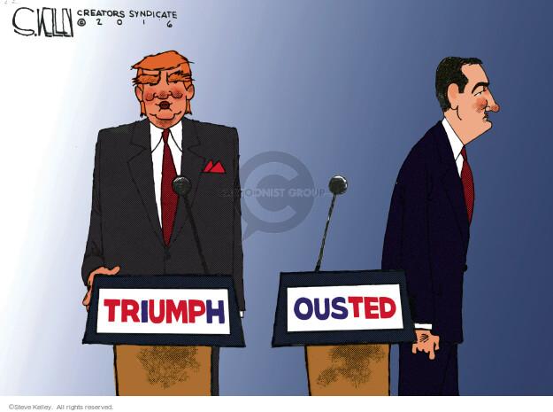 Steve Kelley  Steve Kelley's Editorial Cartoons 2016-05-05 2016 Election Ted Cruz