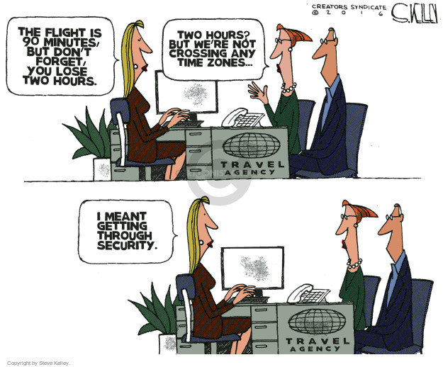 Steve Kelley  Steve Kelley's Editorial Cartoons 2016-05-11 travel agent