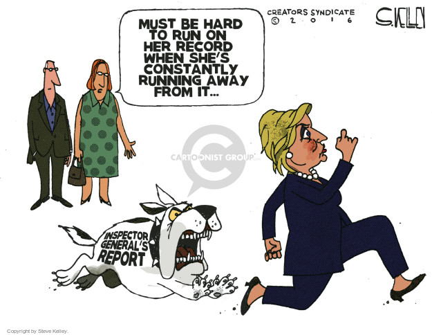 Steve Kelley  Steve Kelley's Editorial Cartoons 2016-05-26 inspector general