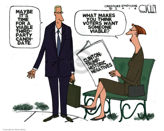 Cartoonist Steve Kelley  Steve Kelley's Editorial Cartoons 2016-05-31 election
