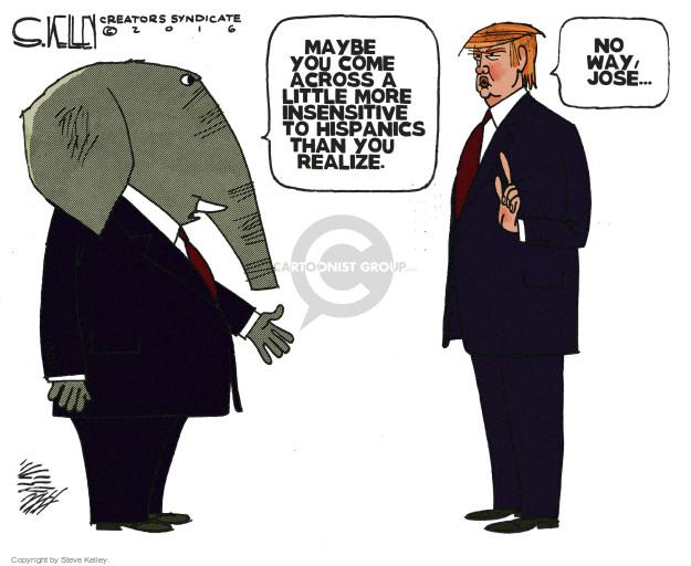 Steve Kelley  Steve Kelley's Editorial Cartoons 2016-06-07 racism