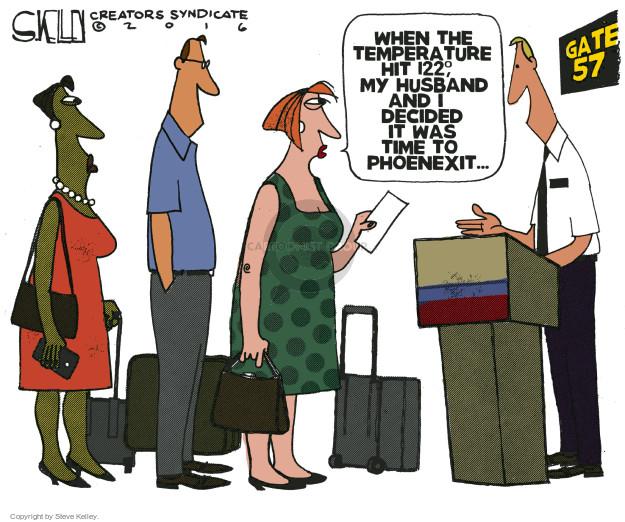 Cartoonist Steve Kelley  Steve Kelley's Editorial Cartoons 2016-06-21 heat