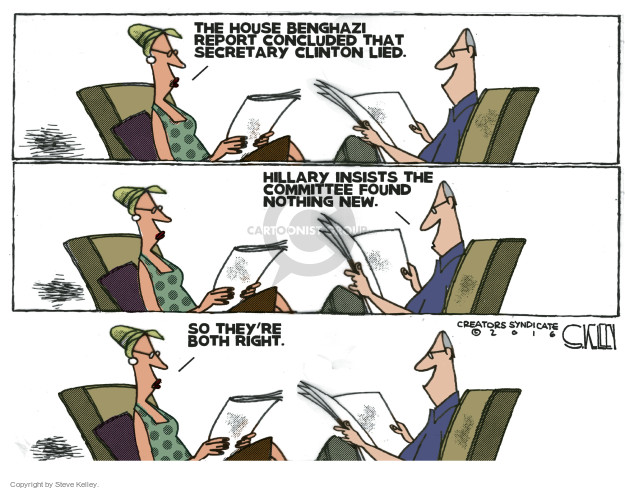 Cartoonist Steve Kelley  Steve Kelley's Editorial Cartoons 2016-06-30 election
