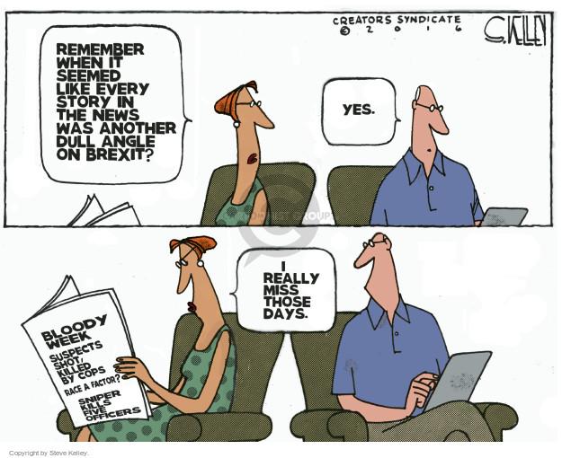 Steve Kelley  Steve Kelley's Editorial Cartoons 2016-07-12 racism