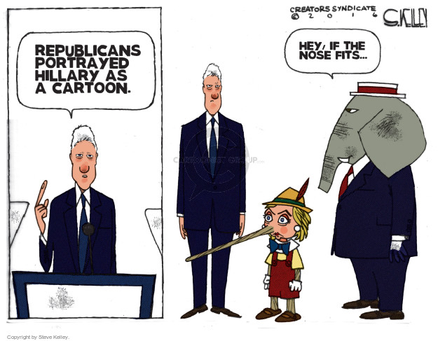 Cartoonist Steve Kelley  Steve Kelley's Editorial Cartoons 2016-07-28 hey