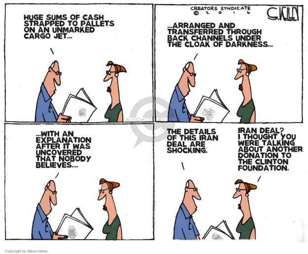 Cartoonist Steve Kelley  Steve Kelley's Editorial Cartoons 2016-08-04 election
