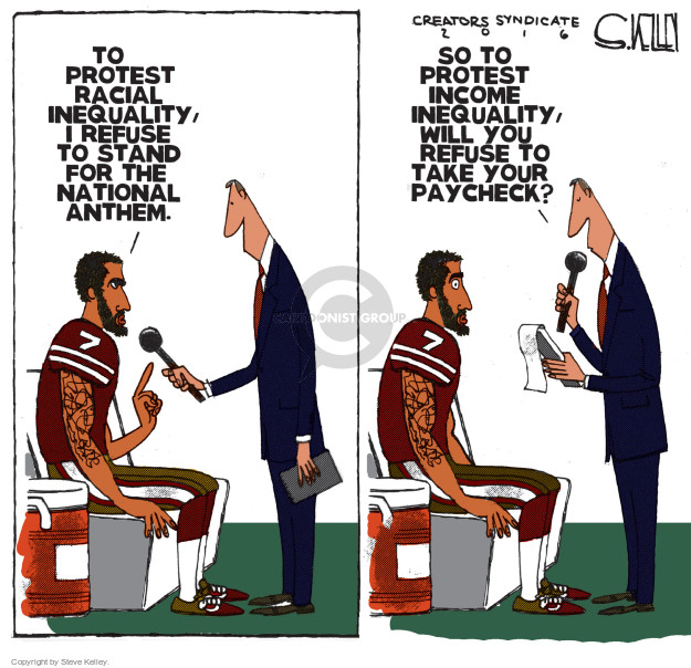Steve Kelley  Steve Kelley's Editorial Cartoons 2016-08-29 football player