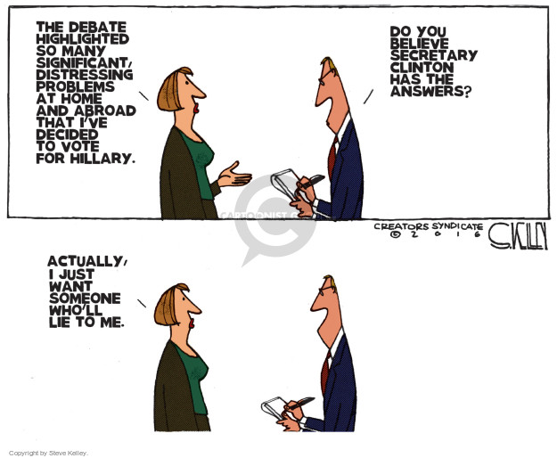 Steve Kelley  Steve Kelley's Editorial Cartoons 2016-09-30 state election
