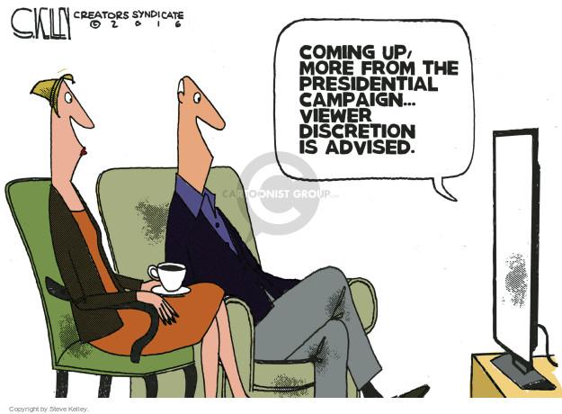 Cartoonist Steve Kelley  Steve Kelley's Editorial Cartoons 2016-10-09 election