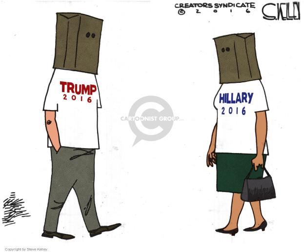 Cartoonist Steve Kelley  Steve Kelley's Editorial Cartoons 2016-10-13 election