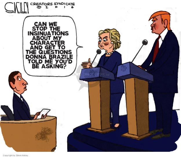 Cartoonist Steve Kelley  Steve Kelley's Editorial Cartoons 2016-10-18 debate