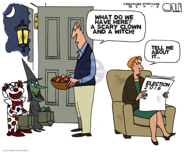 Cartoonist Steve Kelley  Steve Kelley's Editorial Cartoons 2016-10-24 election