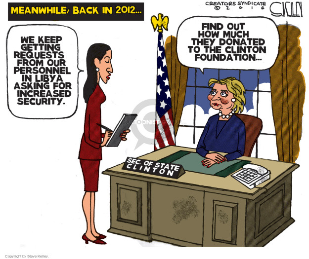 Steve Kelley  Steve Kelley's Editorial Cartoons 2016-10-27 2012 election