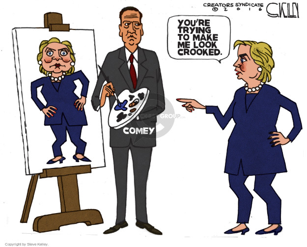 Cartoonist Steve Kelley  Steve Kelley's Editorial Cartoons 2016-10-30 election