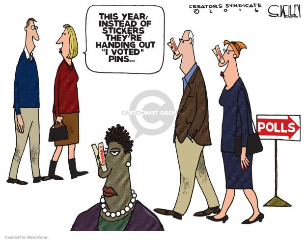 Cartoonist Steve Kelley  Steve Kelley's Editorial Cartoons 2016-11-08 hand
