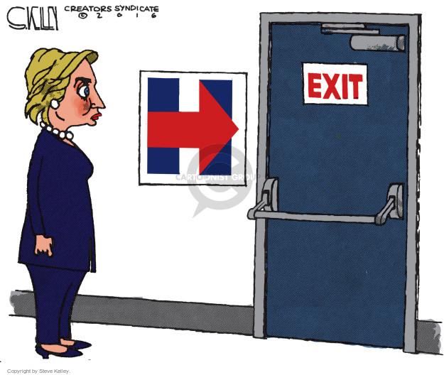 Cartoonist Steve Kelley  Steve Kelley's Editorial Cartoons 2016-11-09 election