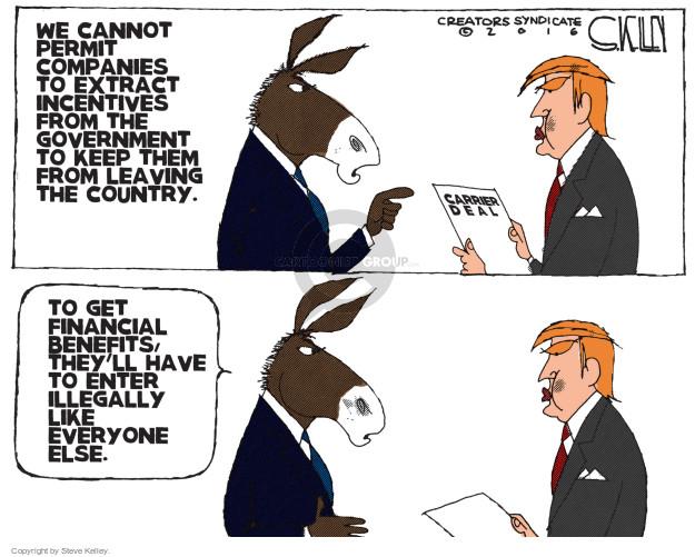 Steve Kelley  Steve Kelley's Editorial Cartoons 2016-12-06 immigration employment